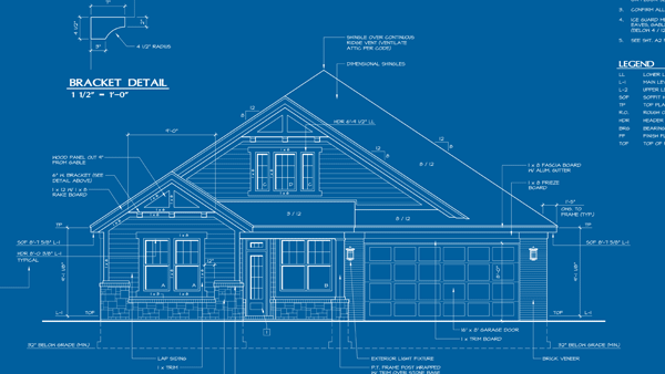 blue print of a home